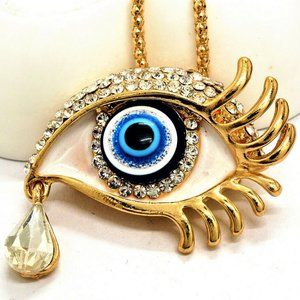 Jewelry - 3D Exquisite Art Deco Crying Eye Necklace/Brooch